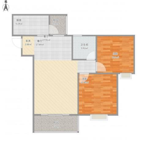 天府丽正2室1厅1卫1厨89.00㎡户型图