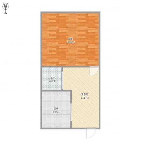 永丰巷1室1厅1卫1厨59.00㎡户型图