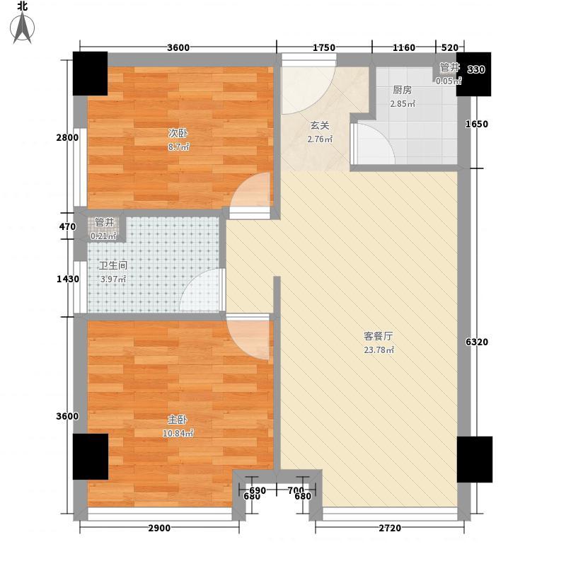 九峰小区户型2室2厅1卫1厨