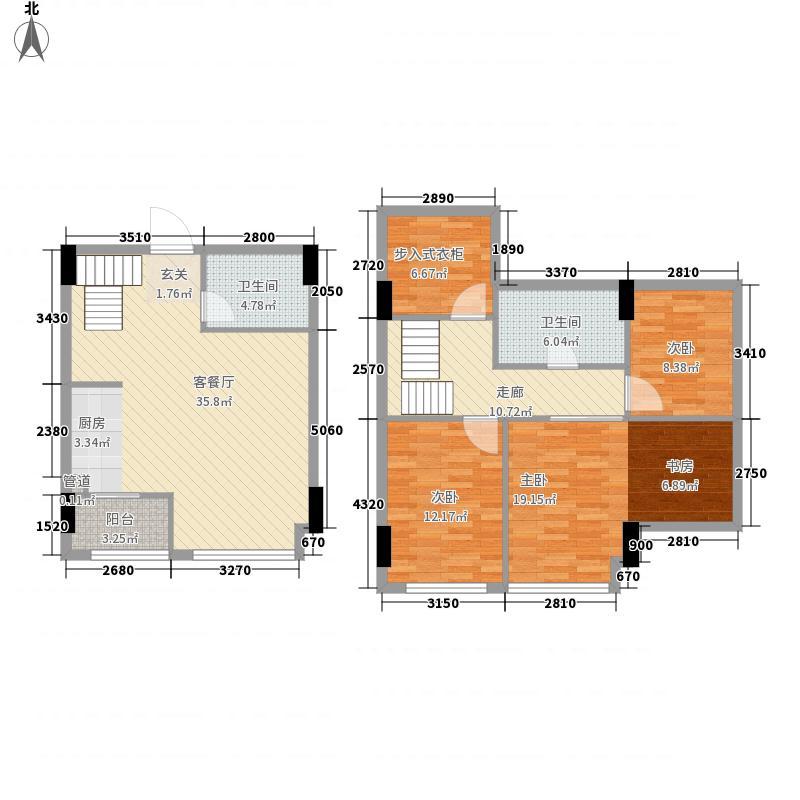 阳逻财富广场3室1厅2卫0厨107.14㎡户型图