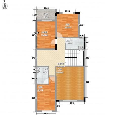 瑶芳花园3室1厅2卫0厨114.00㎡户型图