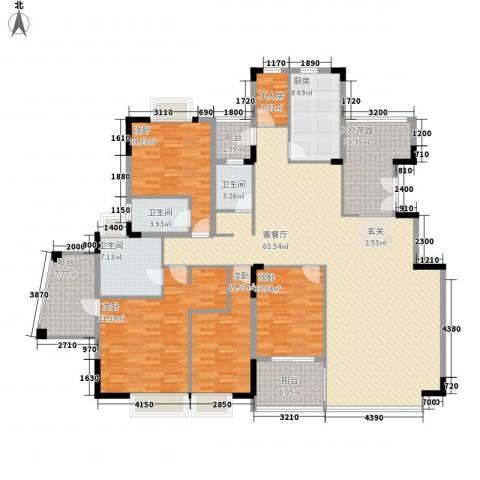 丽江花园4室1厅3卫1厨246.00㎡户型图