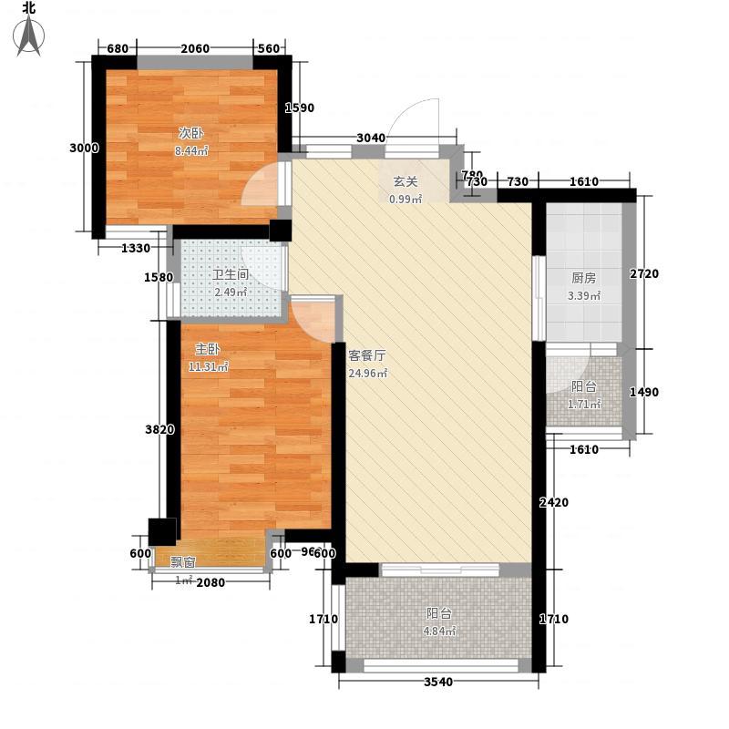 电池厂宿舍2-2-2-1-2户型2室2厅2卫1厨