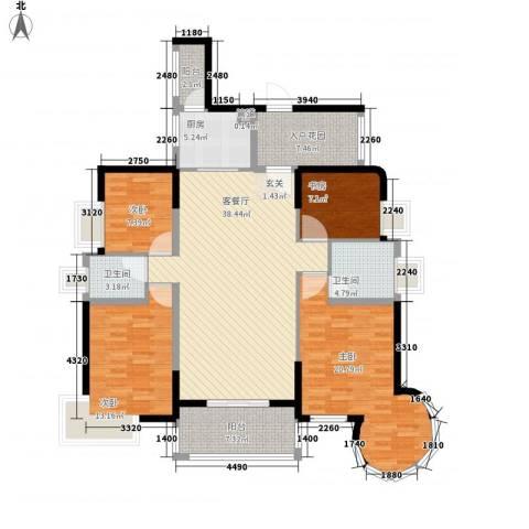 泰豪绿湖新村4室1厅2卫1厨117.10㎡户型图