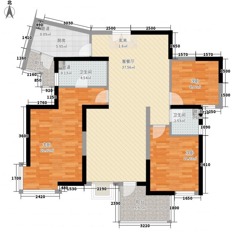 卢龙山庄户型3室