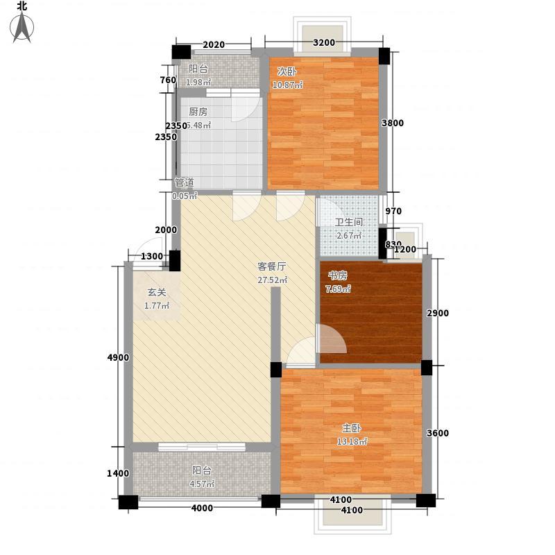 同和泊湾D户型3室2厅1卫1厨