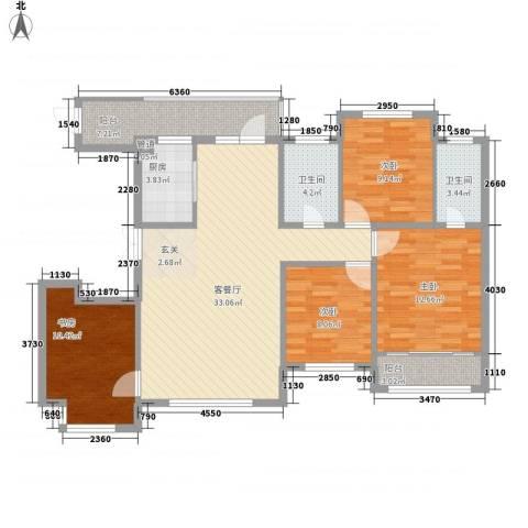 南庄统建楼4室1厅2卫1厨135.00㎡户型图