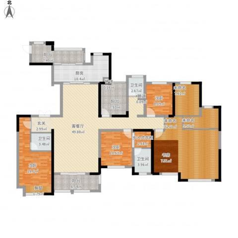御景华庭3室1厅3卫1厨252.00㎡户型图