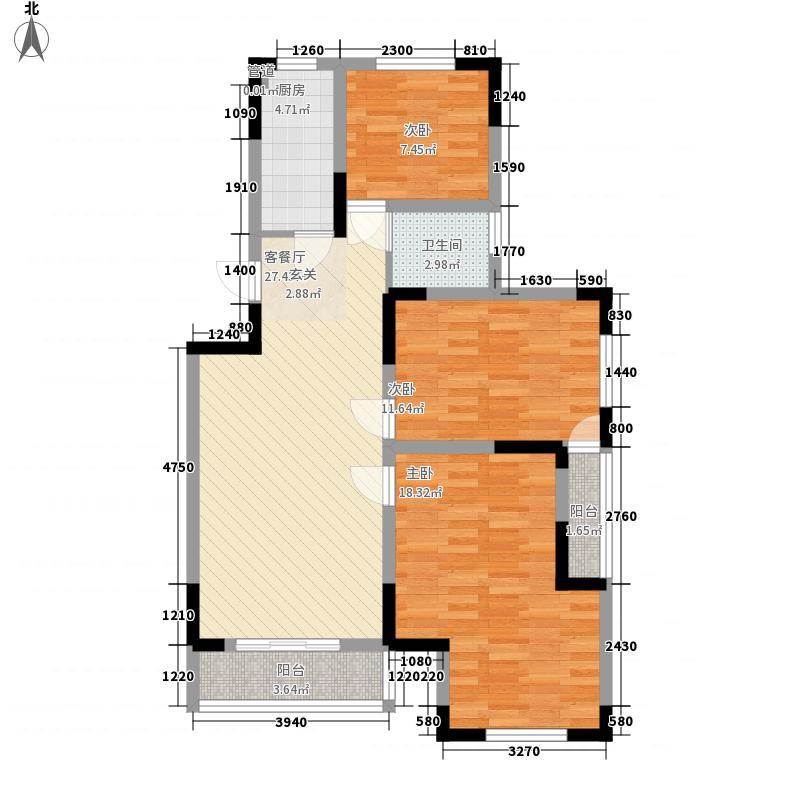 郑东新世界112.00㎡三期B1-B2户型3室2厅1卫