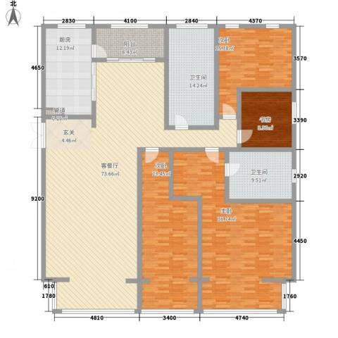 九合国际4室1厅2卫1厨257.00㎡户型图