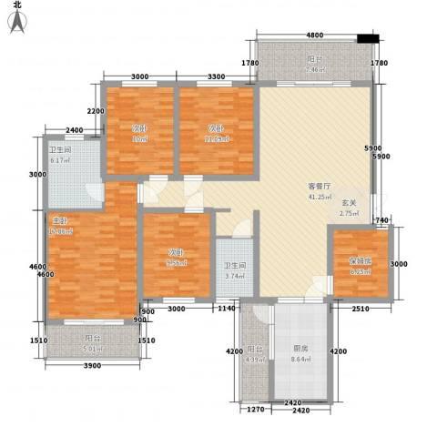 东鑫大厦4室1厅2卫1厨188.00㎡户型图