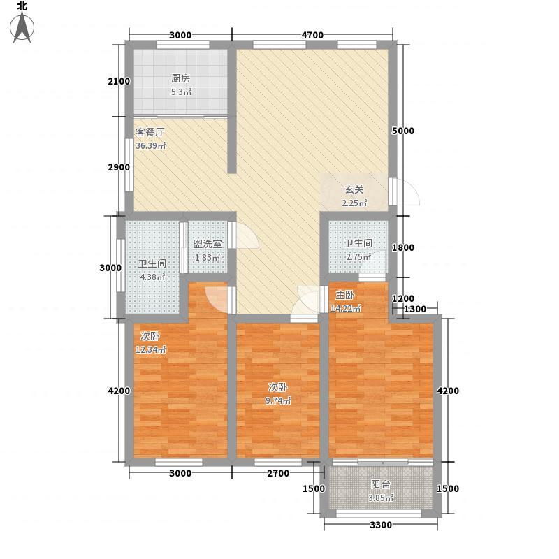 嘉和丽舍户型2室1厅1卫1厨