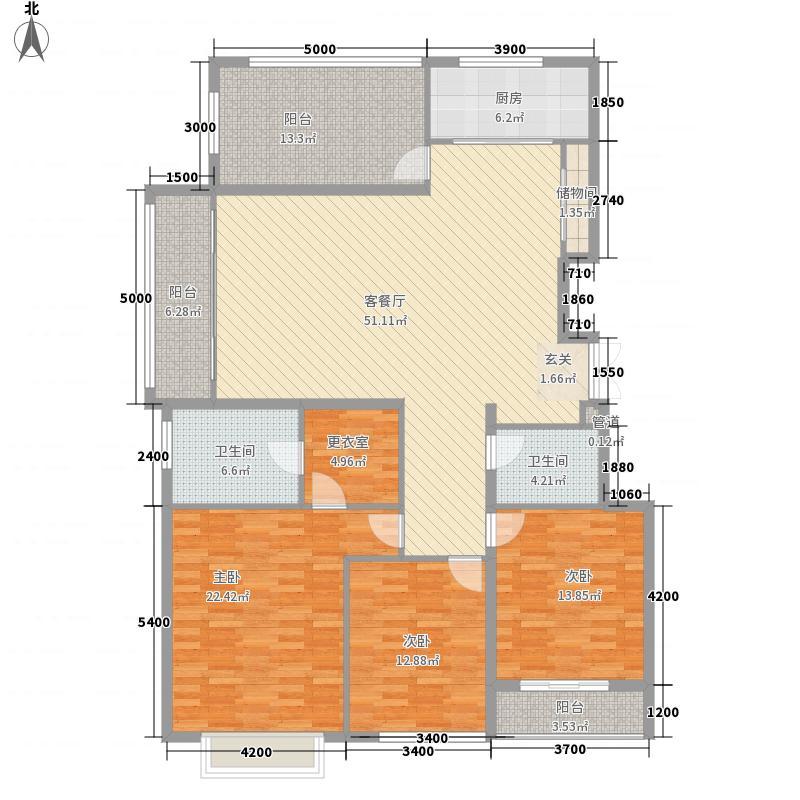银丰花园175.00㎡D4户型3室2厅2卫