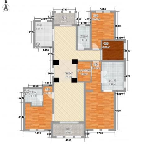 维科太子湾4室1厅3卫1厨185.00㎡户型图