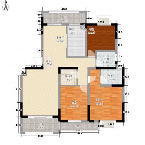 维士・伊丽雅特湾2期3室1厅2卫1厨149.00㎡户型图