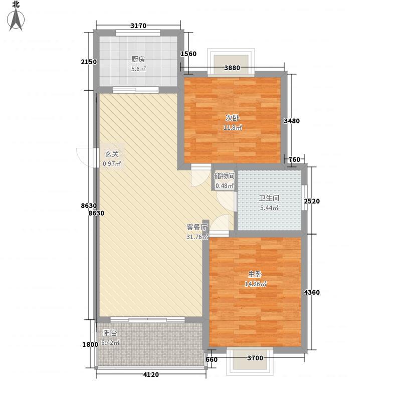 正文花园二期107.00㎡正文花园二期2室户型2室