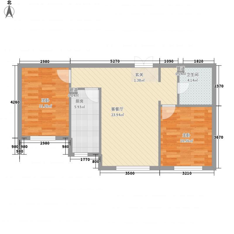 凌云金湖家园户型2室2厅