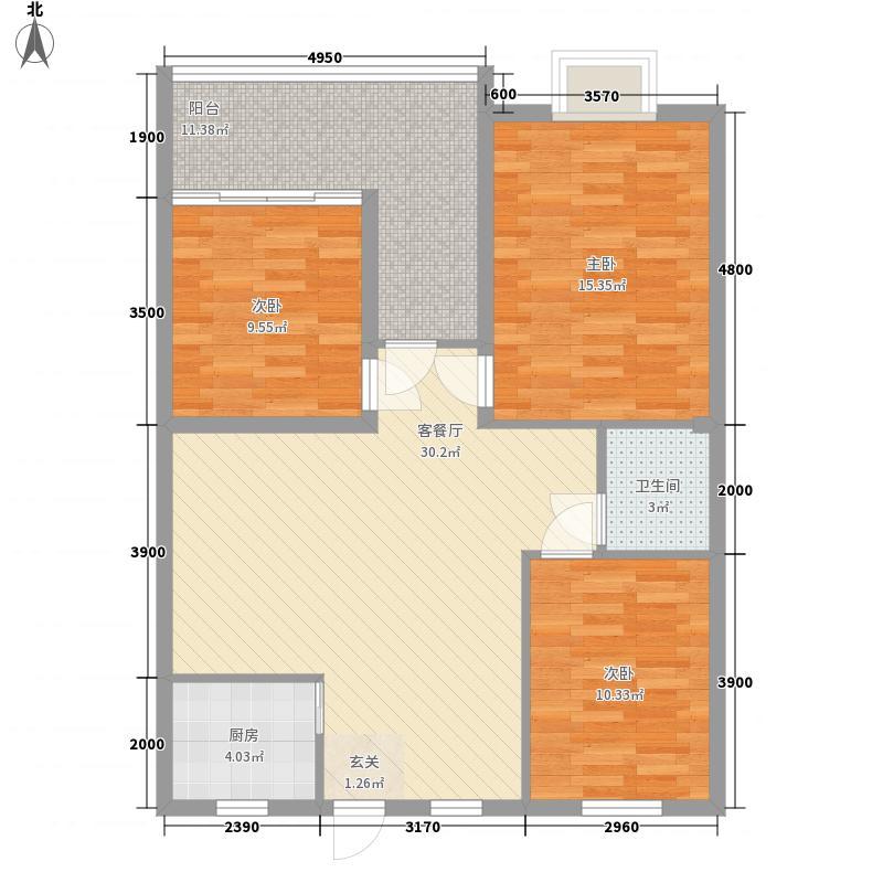 瑞泰城市家园户型3室