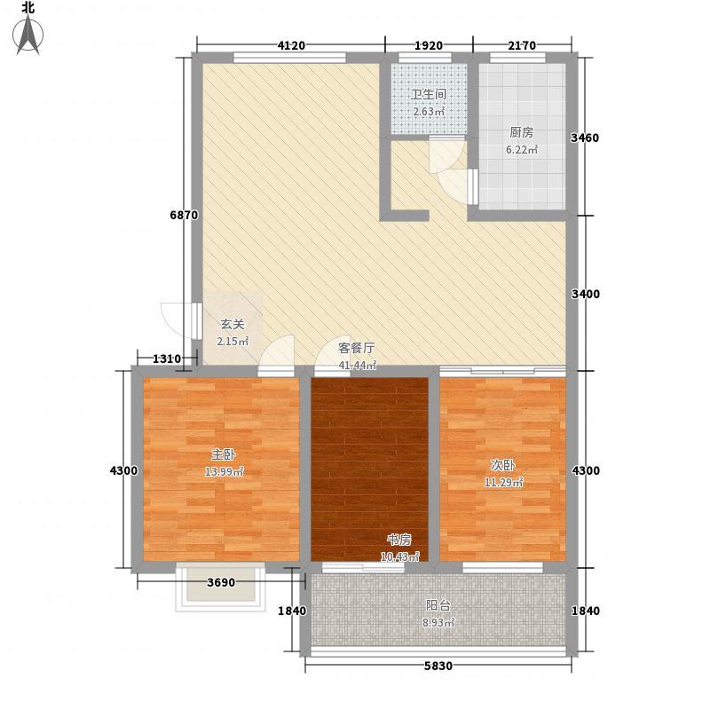 樱园西区135.00㎡户型3室