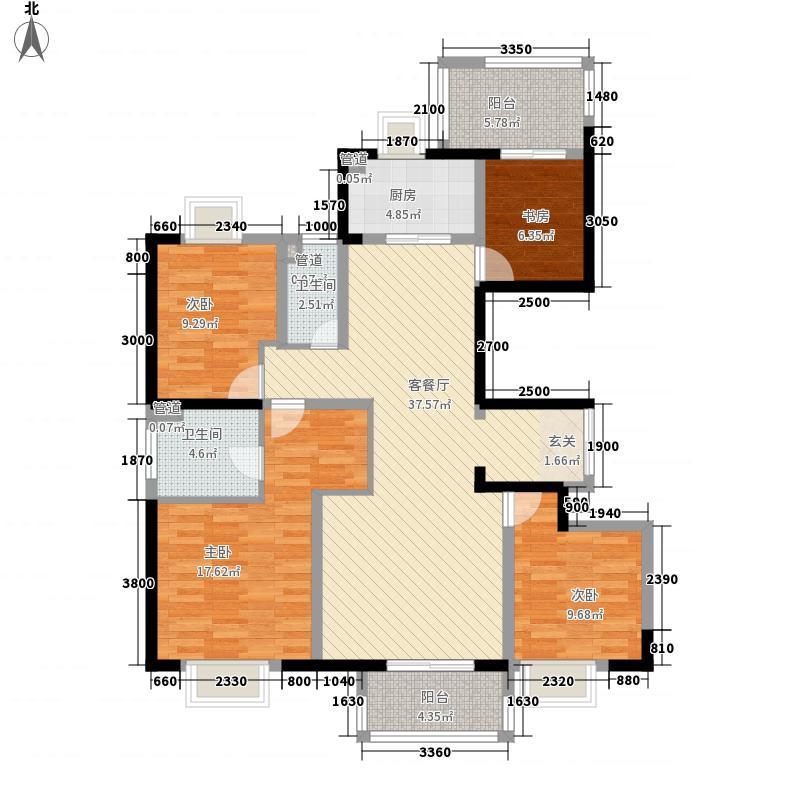 绿地汉口中心14.00㎡9号楼户型4室2厅2卫1厨