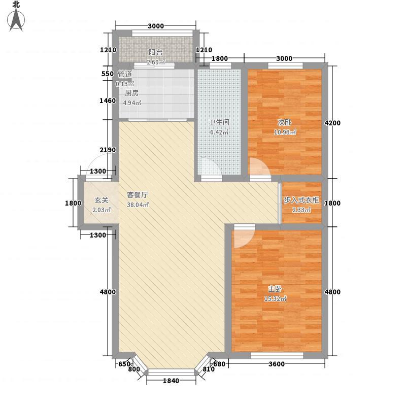 华泰世纪新城12.70㎡二期J2户型2室2厅1卫