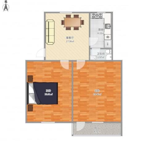 双菱新村10-2-5052室1厅1卫1厨104.00㎡户型图