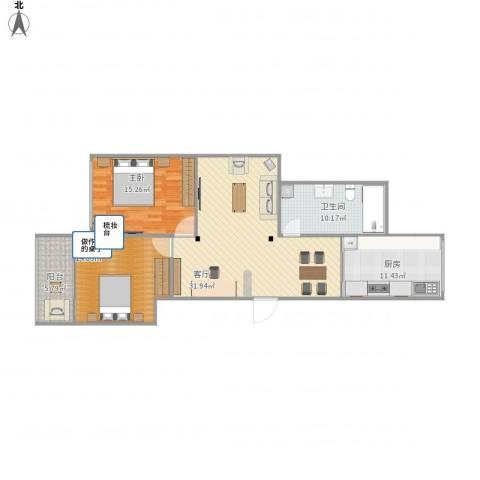 家乐苑1室1厅1卫1厨119.00㎡户型图
