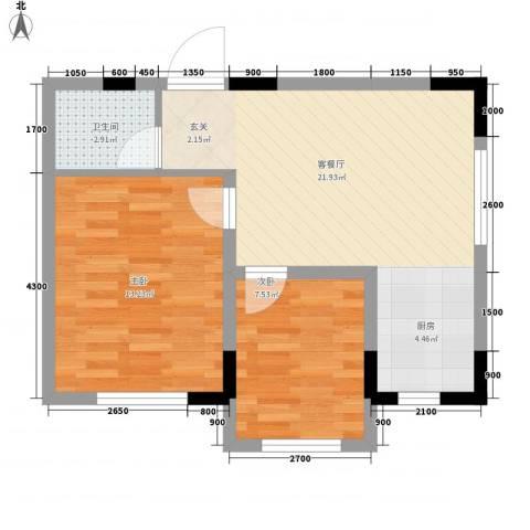 标点2室1厅1卫0厨73.00㎡户型图