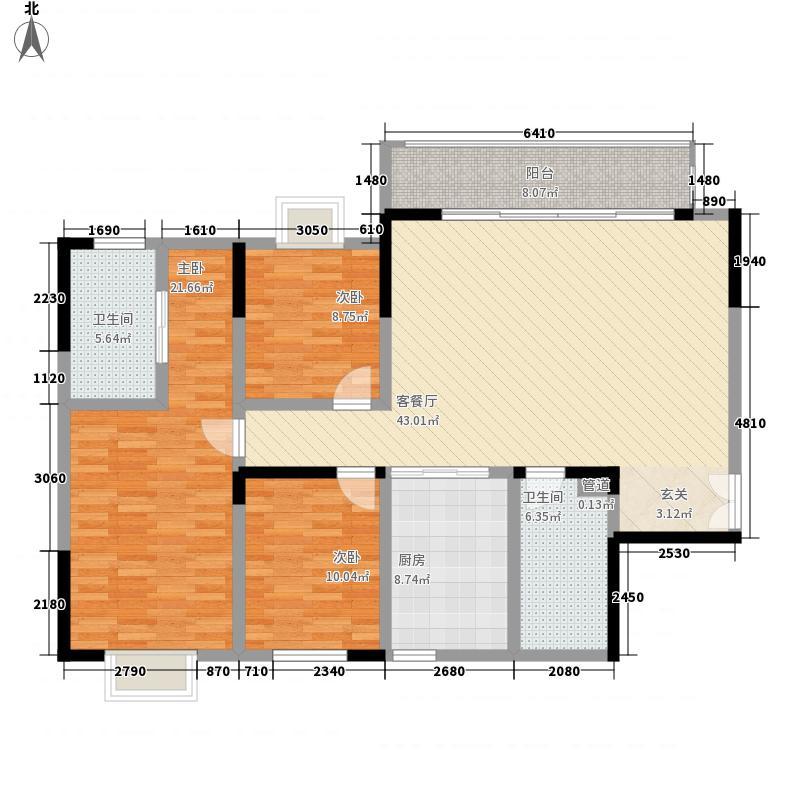美伦凤凰城141.70㎡fh-hx-g1户型3室2厅2卫