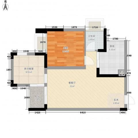 光耀荷兰公馆1室1厅1卫1厨61.00㎡户型图