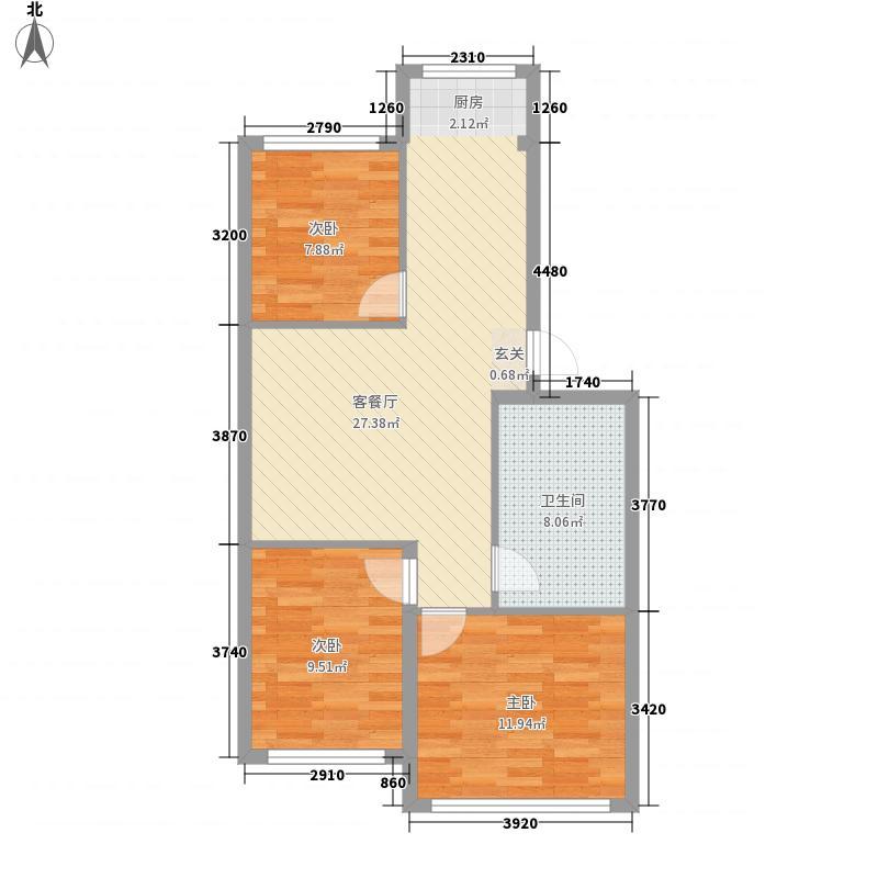 观山名筑户型3室