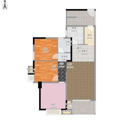 新乡星海传说2室1厅1卫1厨127.00㎡户型图