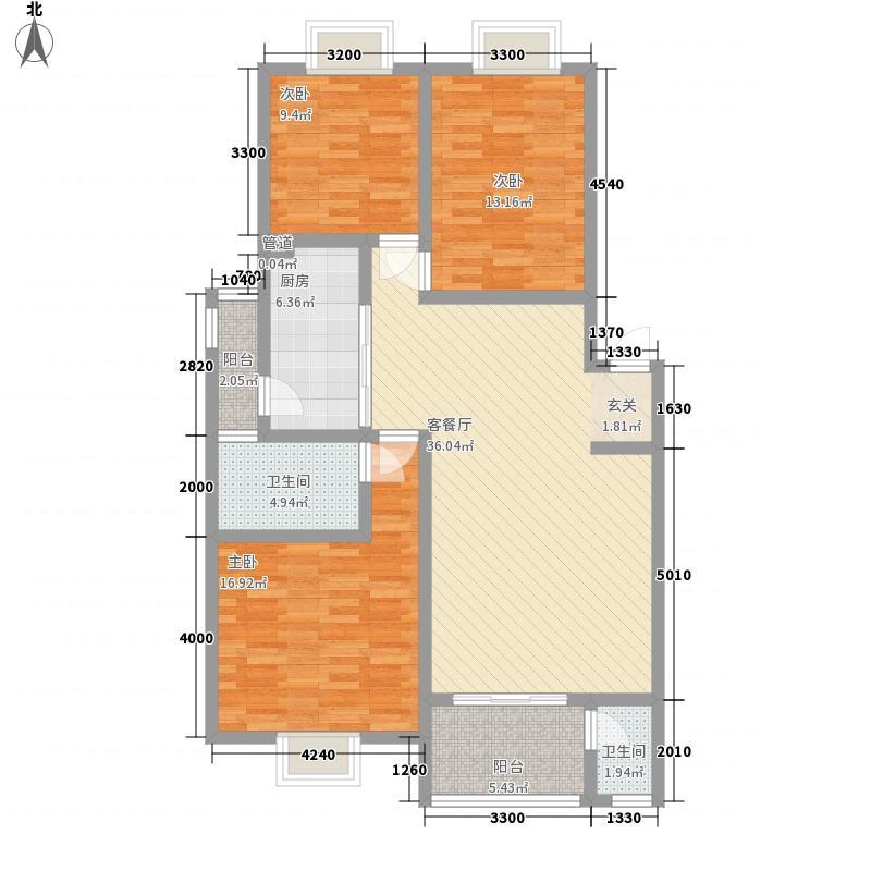 风和日丽风和1户型3室2厅2卫1厨