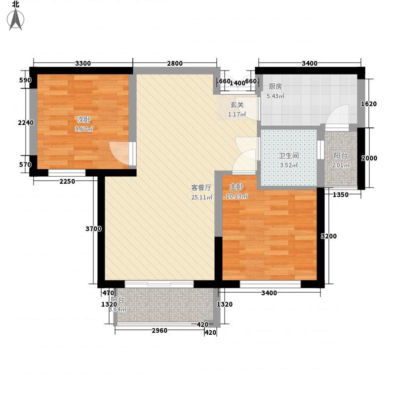 金谷公寓户型2室1厅1卫1厨