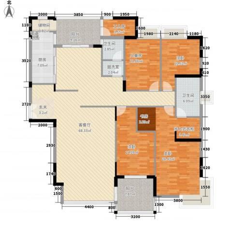 亚洲广场4室2厅2卫1厨237.00㎡户型图