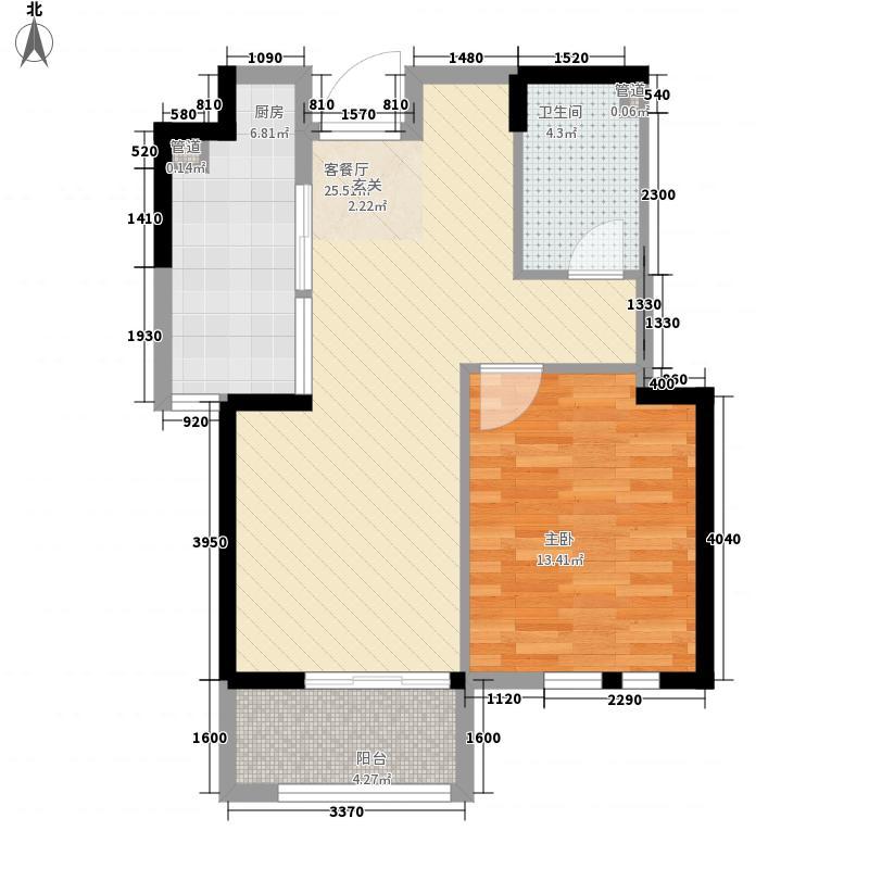 富丽紫玉花园1、2号楼B1户型