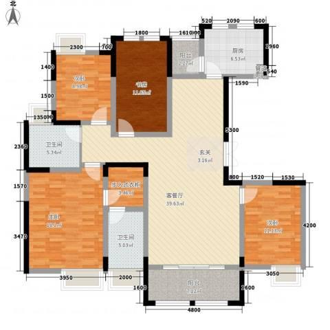 秦岭北麓4室1厅2卫1厨172.00㎡户型图