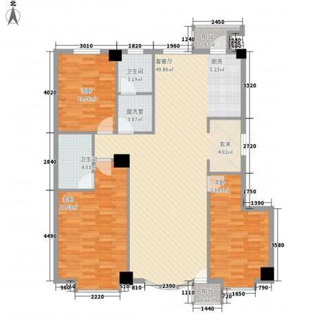 汇利嘉园3室2厅2卫0厨146.00㎡户型图
