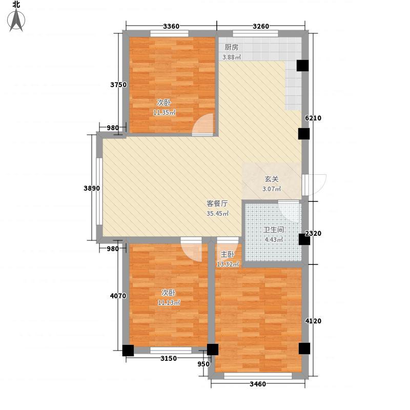 美菱新村户型3室