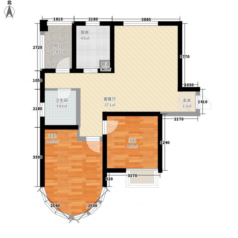 纯翠香山A户型2室2厅1卫