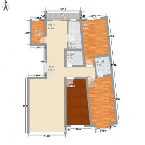 都市华尔兹4室1厅2卫1厨134.00㎡户型图