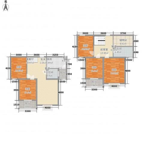 水色时光花园5室1厅2卫1厨198.00㎡户型图