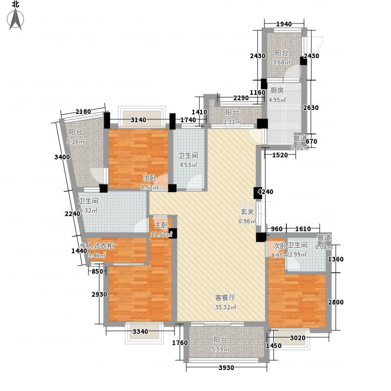 中联天御151.00㎡e户型3室2厅3卫1厨