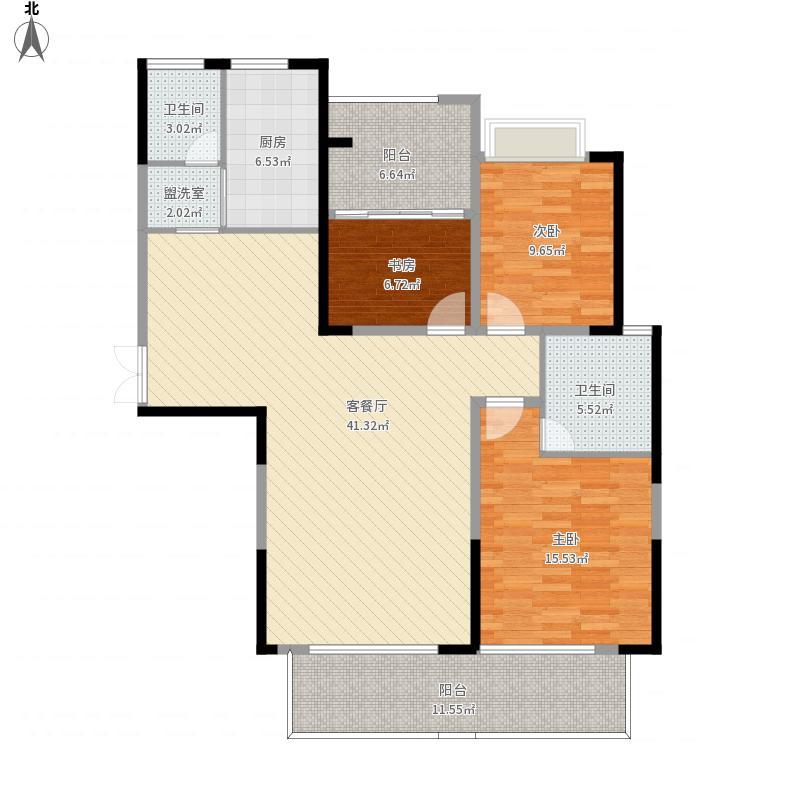 三房两厅-原始户型