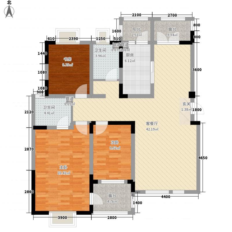 理想城洋房标准层As-3户型