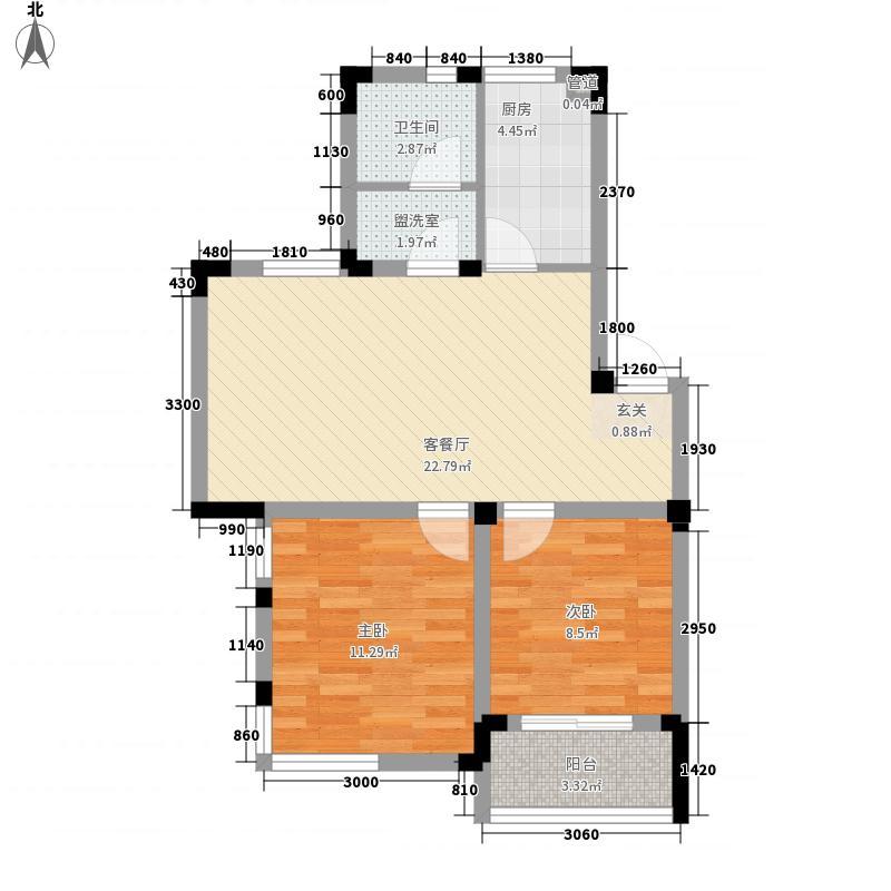 天使苑 2室 户型图
