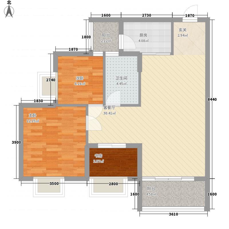 东山雅居5.00㎡4号楼2户型2室2厅1卫1厨