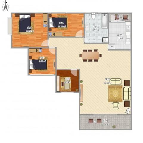 康城尚域4室1厅1卫1厨167.00㎡户型图