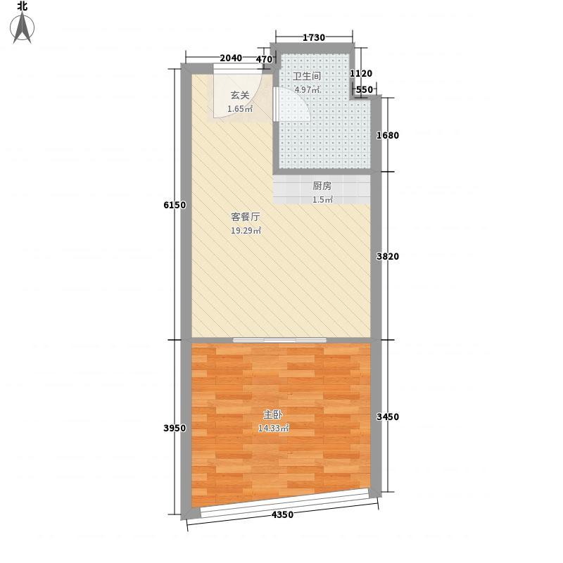 发祥巷53.70㎡二期4448-5307户型1室1厅1卫