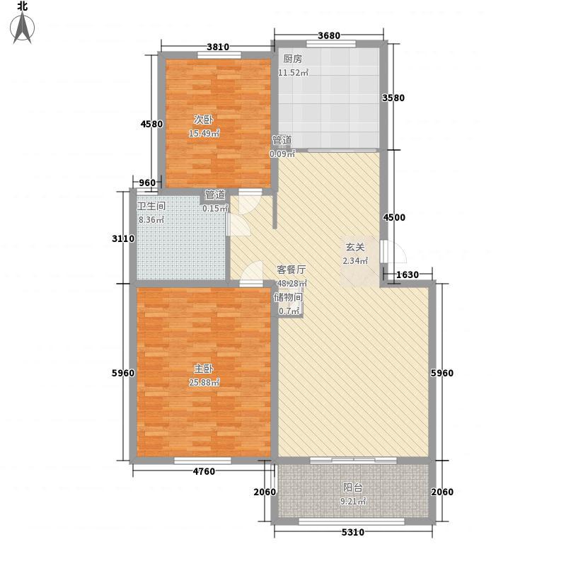 新世纪花园167.00㎡户型4室